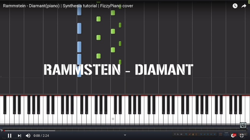 Rammstein - Diamant(piano) | Synthesia tutorial | FizzyPiano cover