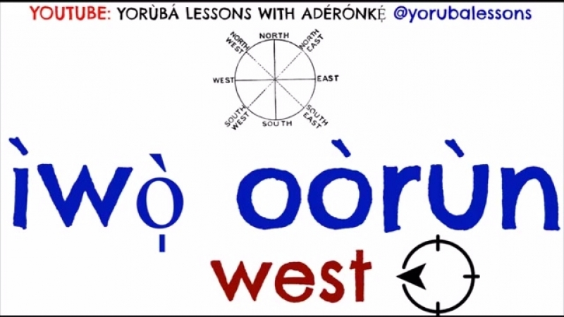 Aderonke. The 4 Cardinal Points North, West, East, South in Yorùbá