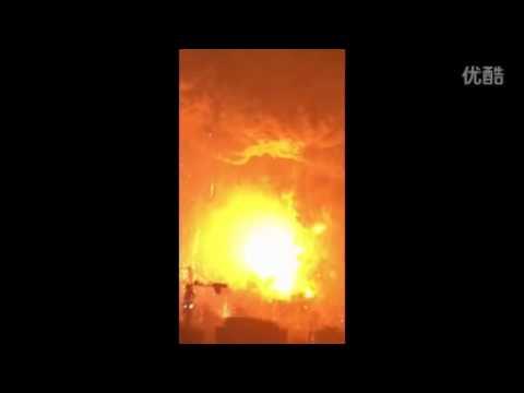 天津爆炸 由外国人拍摄的多次爆炸最全最完整视频20150812(距离爆炸点1公里,高度33层) 标清