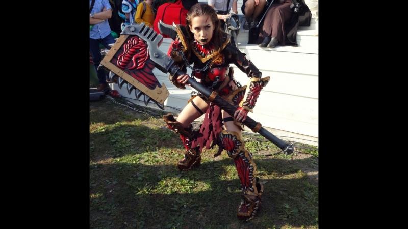 Персонаж из Warhammer 40k (Косплей) - выступление на Geek Picnic 2018 (СПб)