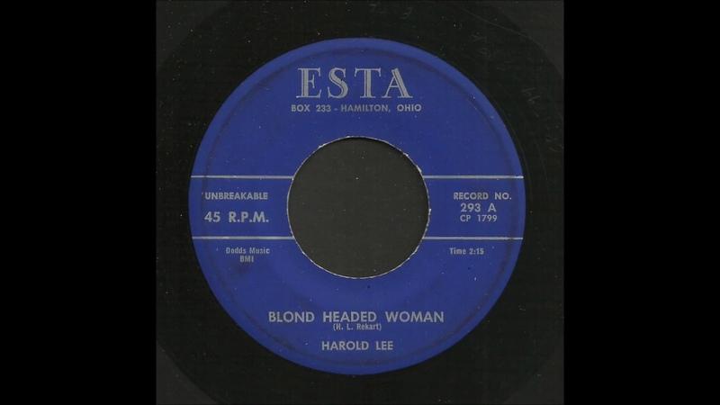 Harold Lee - Blond Headed Woman - Rockabilly 45