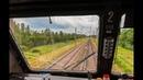 Дождливое лето Поездка на электровозе ЧС8-015