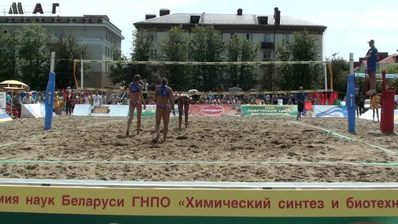 EEVZA 2013 Bobruisk open final 3rd place Makroguzova Rudykh RUS Motrich Yarzutkina RUS