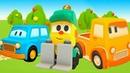 A loja do Lifty. Ajuda na estrada. Desenho animado de carros.