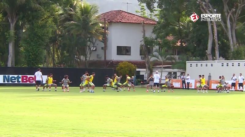 Primeiro treino do Vasco após a apresentação de Luxemburgo!