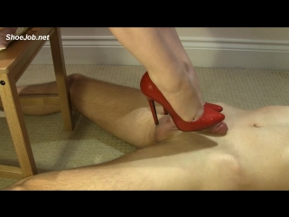 Red Stiletto Shoejob / Foot Fetish