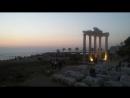 Храм Аполлона и храм Афины. Средиземное море. Сиде. Турция. Сентябрь 2018г.