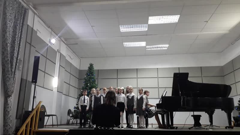 Хор младших классов концерт ДШИ 14.12.2018