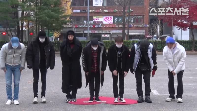 [VK][181109] MONSTA X Arriving at Music Bank @ 스포츠서울