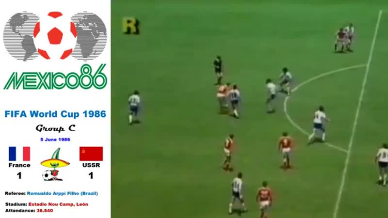 World Cup Mexico 1986: France - Soviet Union 1-1 (Group C) - HD