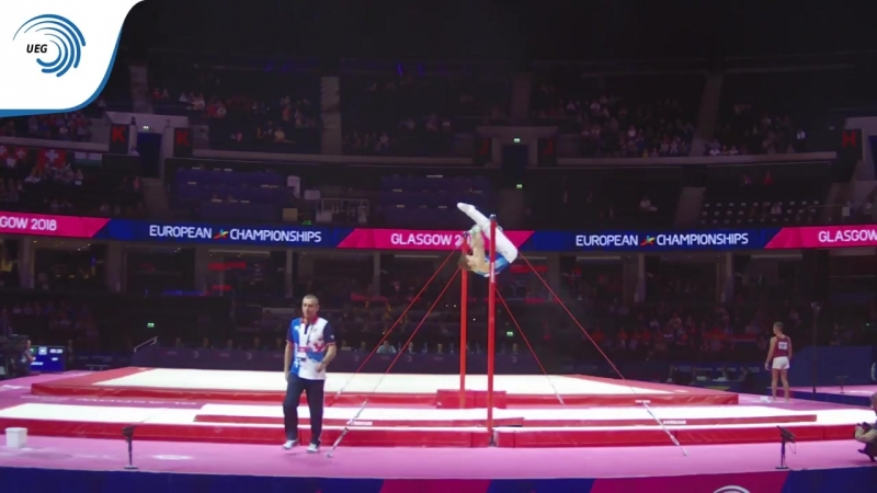 Viktor KALIUZHIN (RUS) - 2018 Artistic Gymnastics Europeans, junior qualification horizontal bar
