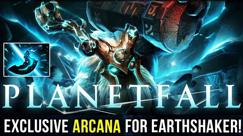MOST EPIC ARCANA EVER! Earthshaker PLANETFALL ARCANA ITEM PREVIEW - BATTLE PASS TI9 DOTA 2