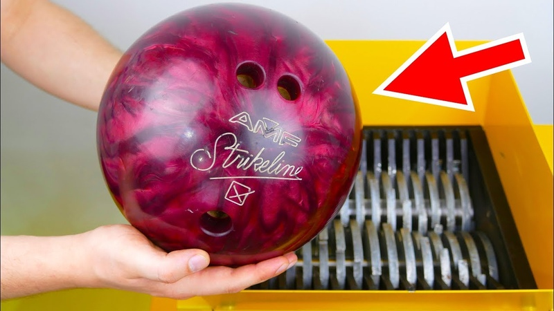 WHAT HAPPENS IF YOU DROP BOWLING BALL INTO THE SHREDDING MACHINE?
