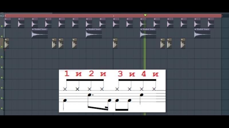 Красивый ритм с 16 ой бочкой