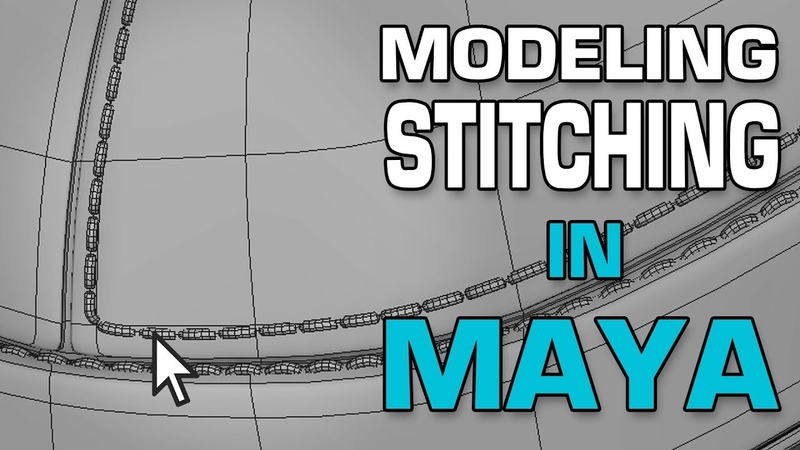 Maya 2018 3d Modeling Tutorial: Model Stitching using MASH and Curve Warp.