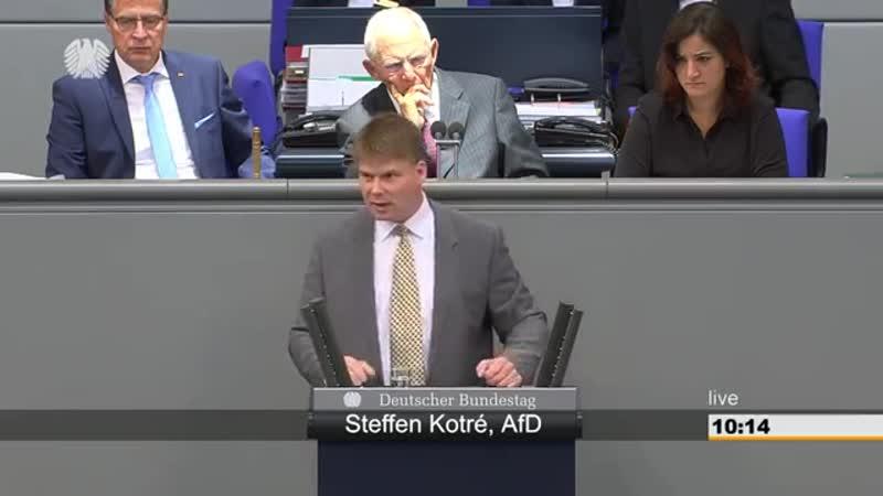 Steffen Kotre AFD - Frau Merkel hält ja wenig vom Deutschen Volk-