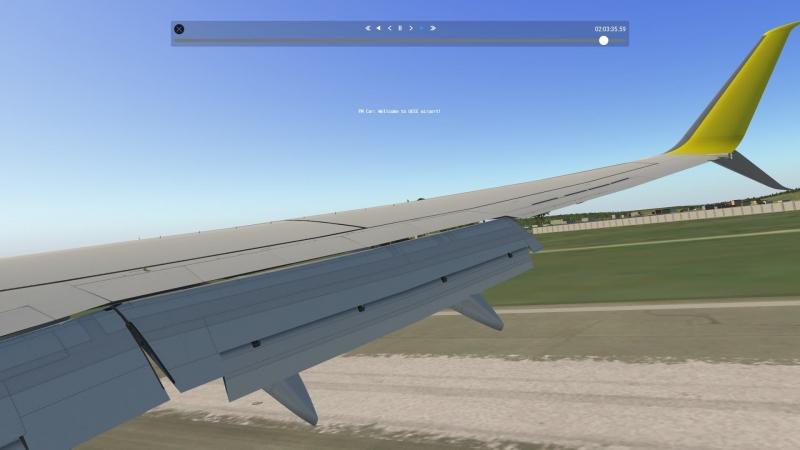 Посадка в Якутске на B738_ИВАО (Вид с крыла)