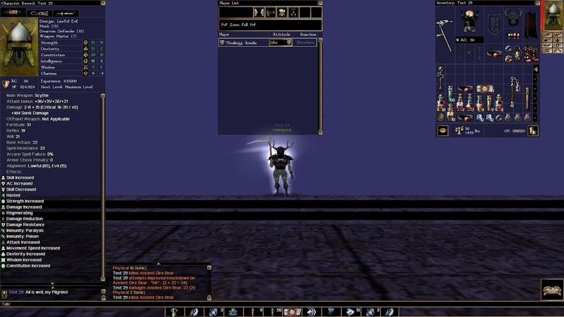 NWN: EE: Arelith, Мой Билд(18): Race: Duergar, Classes: Monk Dwarven Defender Weapon Master, 18, 44, 86(20.05.2019)