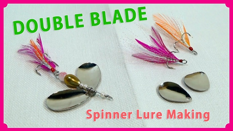 Making a double blade spinner lure ダブルブレード仕上げのスピナールアーの作り方
