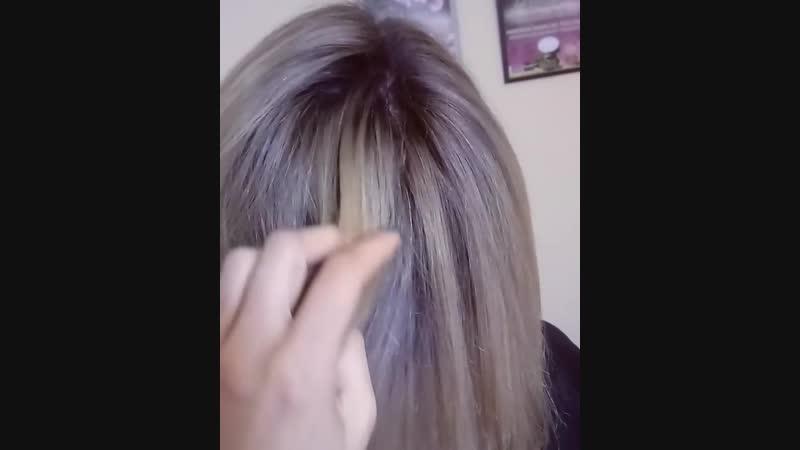 Окрашивание волос в технике airtouch YEllow окрашиваниеволосхарьков alfaparf airtouch