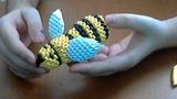 How to make 3d origami Honey- Bee part 2