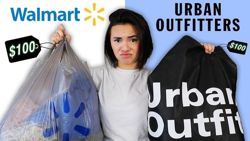 $100 CHALLENGE WALMART vs URBAN OUTFITTERS