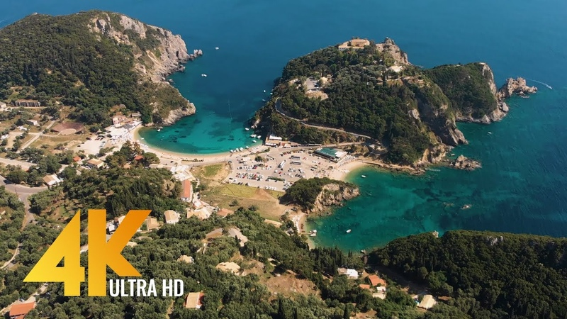 Greece 4K Aerial Drone Film from Santorini, Corfu and Athens - 3 HRS Aerial Video