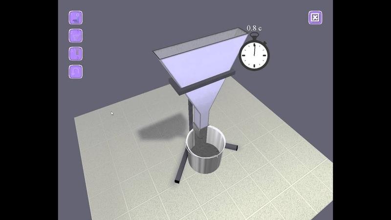 Испытание самоуплотняющегося бетона в V-образной воронке (V-funnel test)
