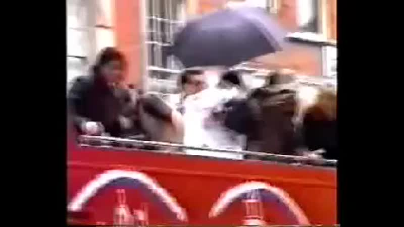 Michael Jackson - Rare Footage In London (Arrival to Killer Thriller Speech Agai.mp4