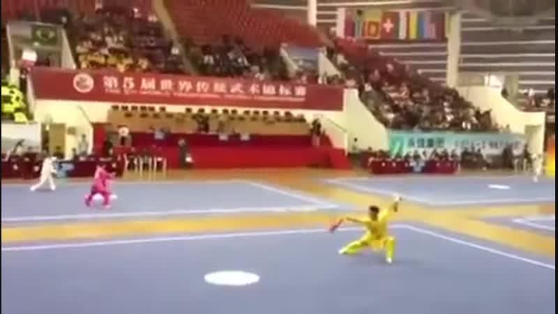 3.Шуан би шоу ( 双匕首) - Haiyang Zhang (5th World Traditional Wushu Championships).