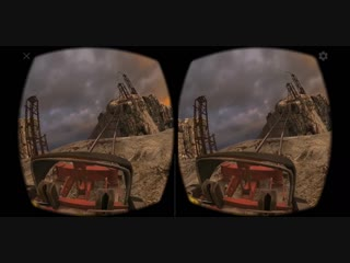Virtual Reality. Epic Roller Coaster 3D VR SBS