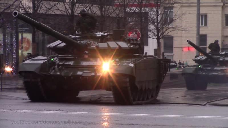 Танки Т 72Б3 репетиция парада Победы в Москве 2017