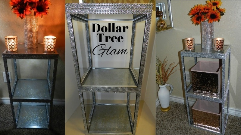 Glam End Table DIY | Multi-functional Elegant Dollar Tree Home Decor
