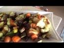 Запеченные овощи в духовке и турецкий десерт