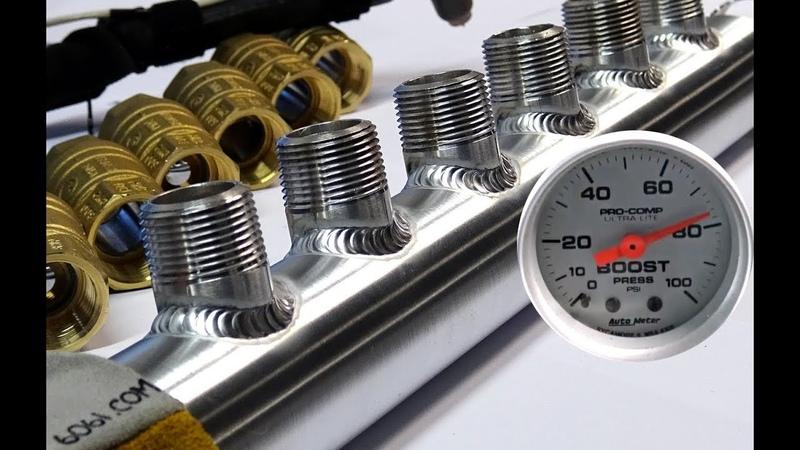 TIG Welding Aluminum Fabrication - Water Manifold - Pressure Leak Test - 6061.com