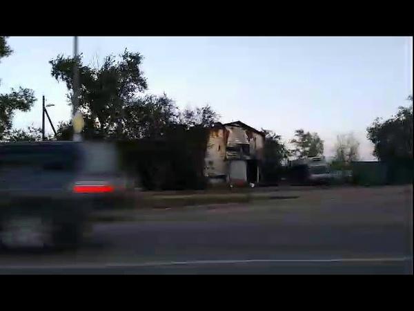 Сгоревшая в Улан-Удэ гостиница и магазин