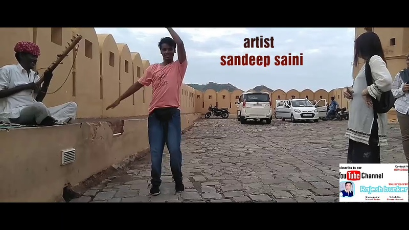 Electro dance with rajsthani vilon at amer fort jaipur :- rajesh bunker