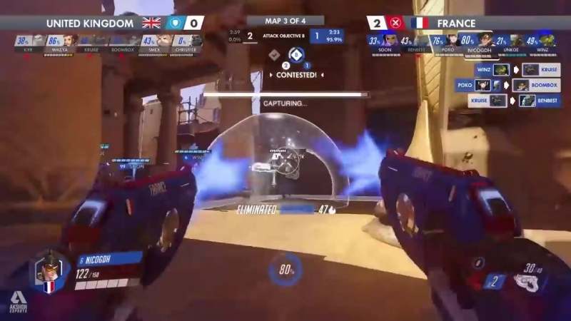 France vs United Kingdom Overwatch World Cup 2018 Paris Qualifier Day3