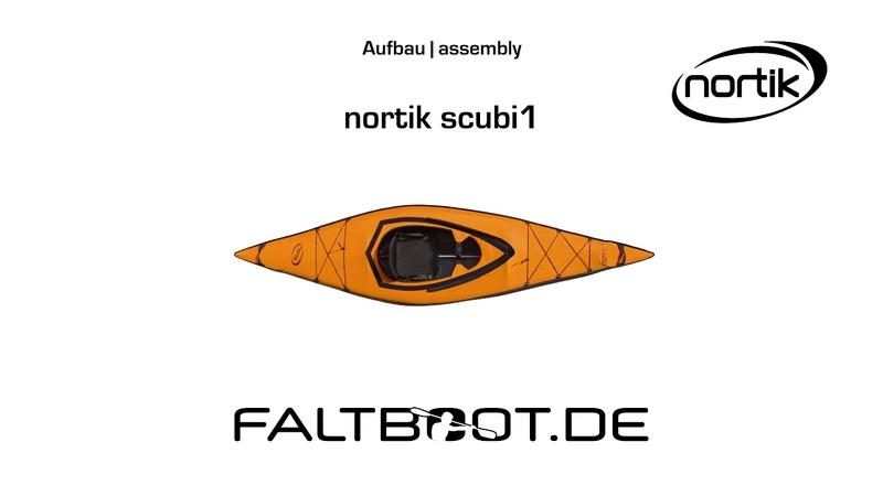Nortik scubi 1 Faltboot Aufbau