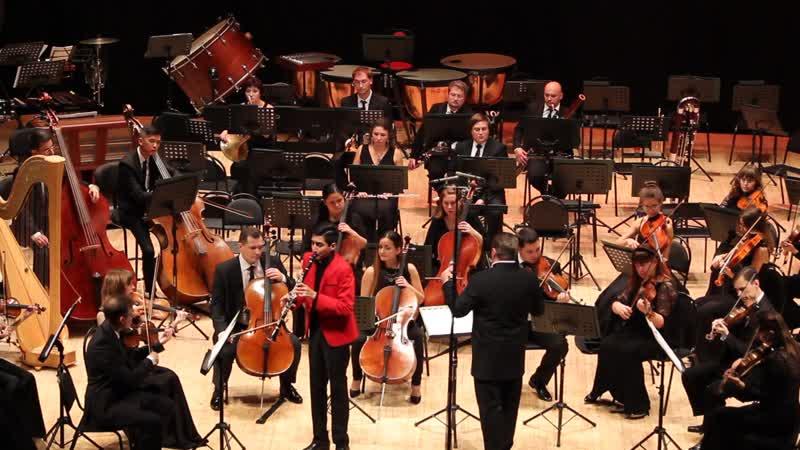 Эрик Мирзоян (кларнет) и РГСО. В.А. Моцарт. Концерт для кларнета с оркестром ля мажор. (фрагмент 3 части).