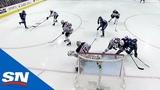 Elias Pettersson uses perfect shot to beat Koskinen top corner