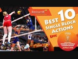 TOP 10 Best Single Block Actions. FIVB Womens World Championship 2018