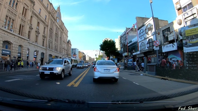 Driving in Buenos Aires from Almagro to Recoleta
