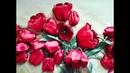 Тюльпан из атласных лент, МК
