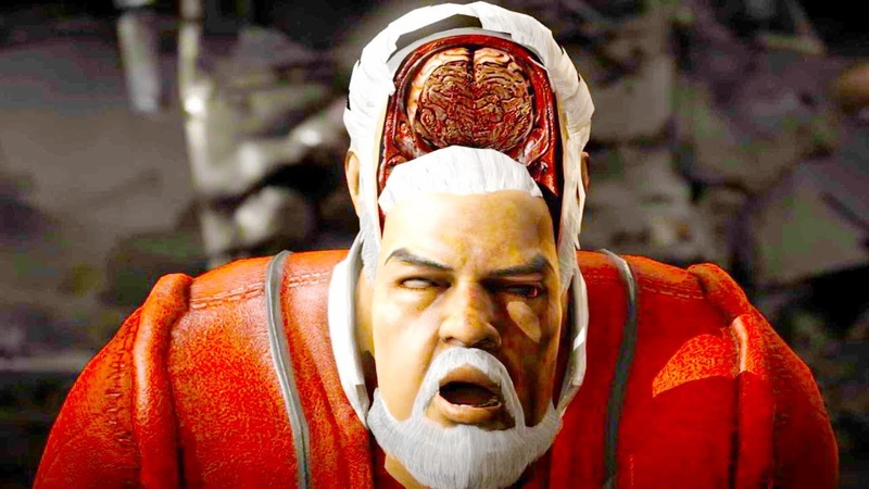 Mortal Kombat XL - All Fatalities X-Rays on Santa Claus Costume Skin Mod 4K Ultra HD Gameplay Mods