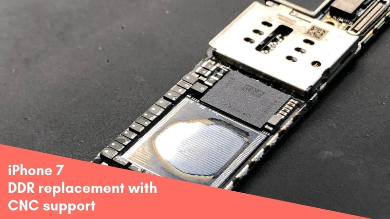 IPhone 7 DDR replacement with CNC support/ замена оперативной памяти на ЧПУ