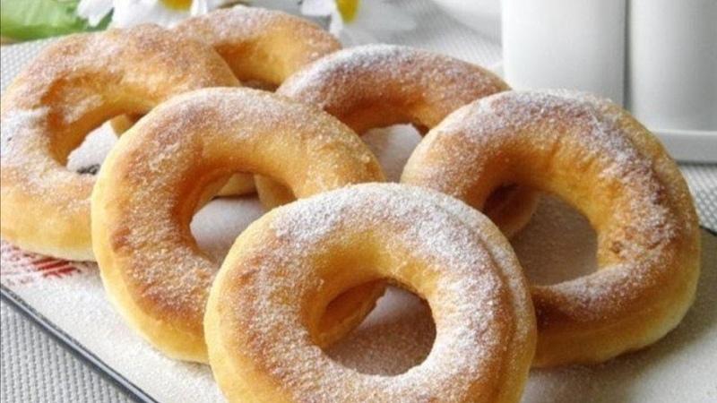 Как приготовить ВОЗДУШНЫЕ ПОНЧИКИ на кефире без дрожжей Пышные пончики на скорую руку Рецепт ТЕСТА