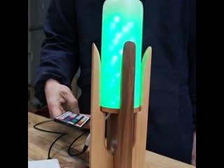 Разноцветная led лампа из бутылки