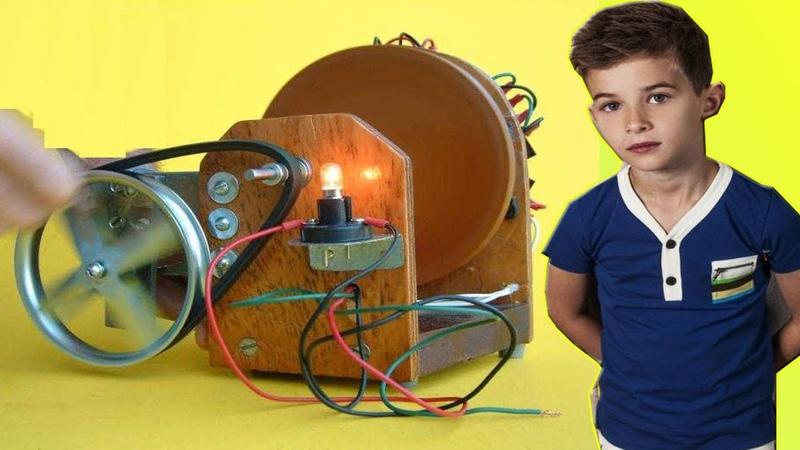 13 летний мальчик изобрел вечный двигатель, все в шоке! Проверяем на практике.