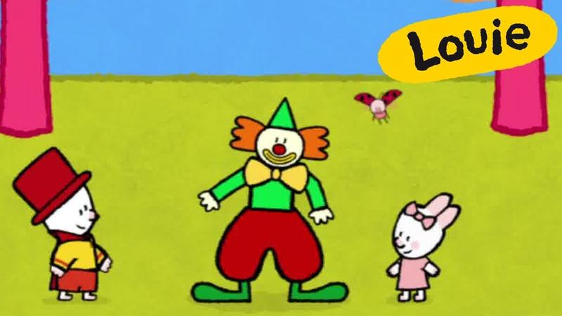 Louie, draw me a clown | Learn to draw cartoon for kids